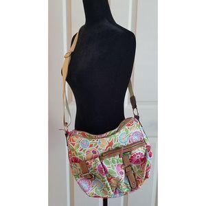 LILY BLOOM Floral Crossbody Shoulder Bag Purse